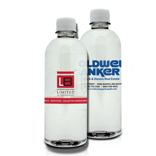 16.9oz Custom Labeled Bottled Water with Ultra-Clear Label