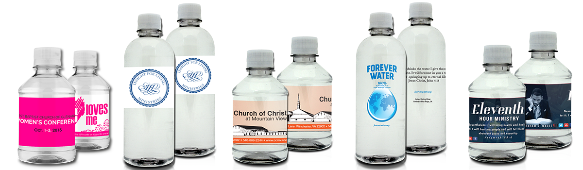Custom Bottled Water for Churches | Personalized Bottles of Water